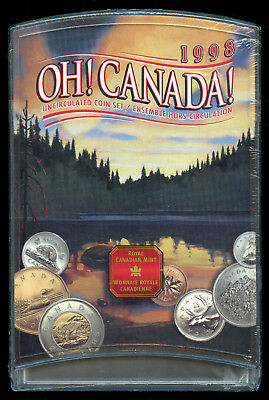1998 Oh Canada! Uncirculated Set of 7 Coins - Sealed