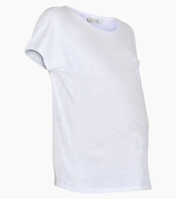 NEW LOOK White Organic Cotton Maternity Tee T-shirt Top Size 10,12,14,16,18,20