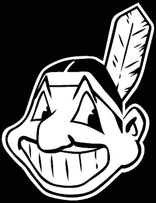 Cleveland Indians Chief Wahoo  Logo Car Decal Vinyl Sticker White 3 Sizes