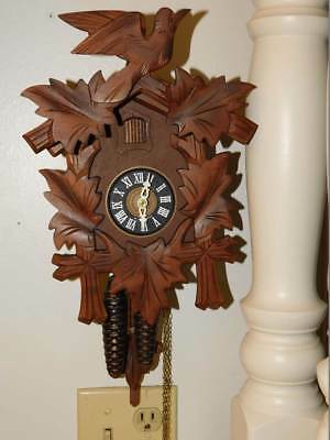 Black Forest Traditional Cuckoo Clock  E. Schmeckenbecker Works Germany Pre Ww2