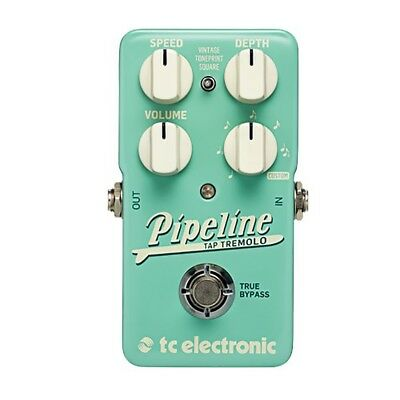 TC Electronic Pipeline Tap Tremolo Guitar Effects Pedal True Buffered Bypass