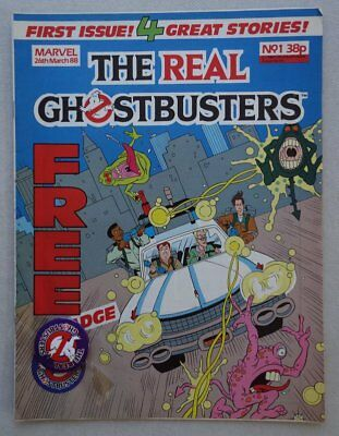 The Real Ghostbusters comic #1 - 26 Mar 1988 +FREE GIFT badge VFN- (phil-comics)