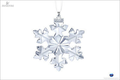 Swarovski 2016 Annual Snowflake Christmas Ornament Large Crystal Star 5180210-1