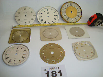 9 Clock Dials Faces Assorted For CLOCKMAKER STEAMPUNK ALTERED ARTS Lot 181