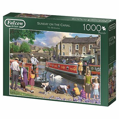 Sunday on the Canal 11206 Puzzle Falcon Jumbo 1000 Teile NEU OVP