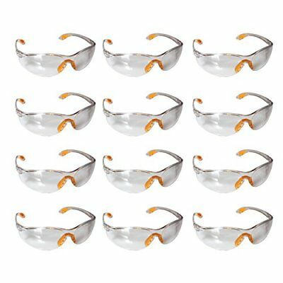 Safety Glasses -12 Piece Pack of Protective Glasses,Safety Goggles Eyewear Eyegl