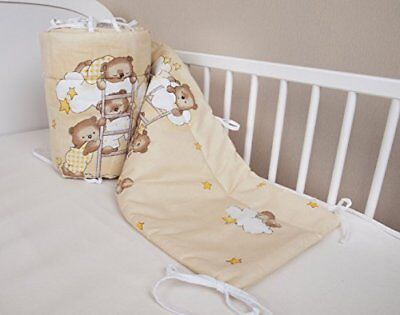 Amilian Baby Cot Bumper Wrap Around Protection For Babys Bed With Head Guard 1