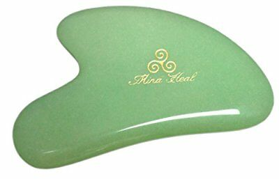 Jade Stone Gua Sha Massage Tool, 2 Point Design, for Anti-wrinkles, Anti-aging G