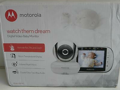 """Motorola MBP36S Digital Video Baby Monitor With 3.5"""" Colour LCD Display"""
