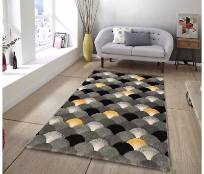 Ochre Mustard Gold Small Extra Large Big Grey Size Floor Carpets Rugs Mats Chaep
