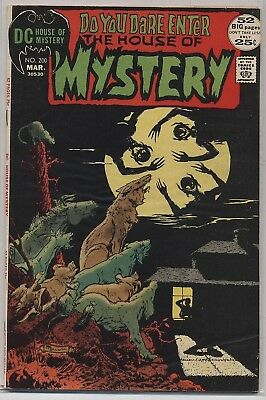 HOUSE of MYSTERY #200 DC Bronze 1972 Mike Kaluta Cover Art F/VF (7.0)