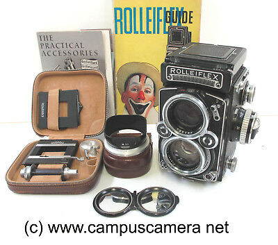 Rollei Rolleiflex 2.8E Model K7E Carl Zeiss 80mm f2.8 Planar with Extras TESTED