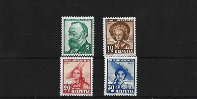 Switzerland Sgj92/5, 1940 Pro Juventute Mnh Set