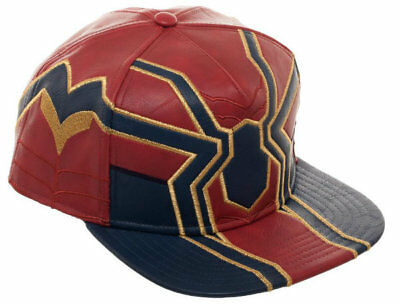 Licensed Marvel Avengers Infinity War IRON SPIDER Faux Leather Snapback Cap