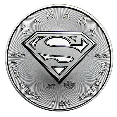 2016 Superman 1oz Pure 999 Silver Bullion Coin unc: Iconic Superman Silver Coin