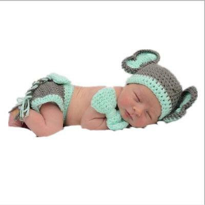 Newborn Baby Boys Girls Hat Crochet Knit Costume Photo Photography Prop Outfit l