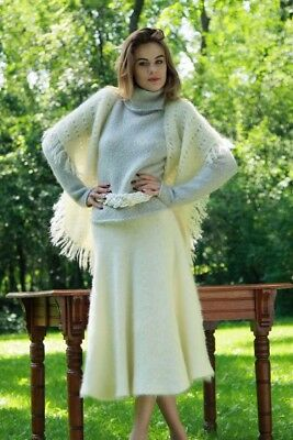 MOHAIR SWEATER with ANGORA SKIRT & SHAWL