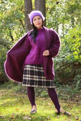 ANGORA SWEATER COAT with MOHAIR SWEATER-HAT