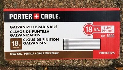 PORTER-CABLE PBN18175 18 Gauge 1-3/4-Inch Brad Nail 5000-Pack