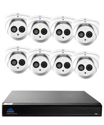 Montavue Professional Security System 8 Channel 4K NVR, 8 4MP Turret/Dome Aud...