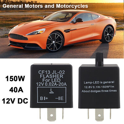 12V 3-Pin LED Adjustable Car Flasher Flash Relay For Turn Signal Light CF13 New]