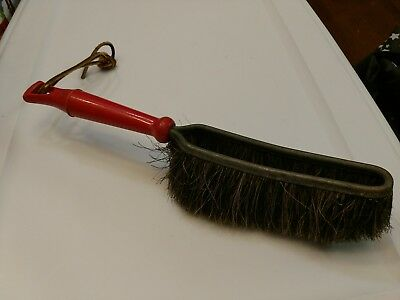 Vintage 1950's Fuller Brush, Horsehair Shop Bench Brush Red Handle, Great Cond.