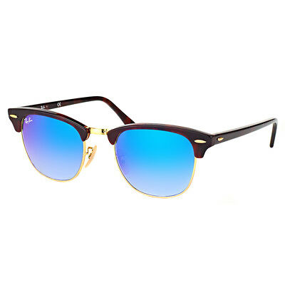 9f491932cb0 Authentic Ray Ban Clubmaster RB 3016 990 7Q Red Havana Sunglasses 51mm Lens