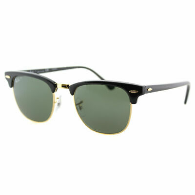 485c079d51 Authentic Ray Ban Clubmaster RB 3016 901 58 Black Gold Polarized Sunglasses  49mm