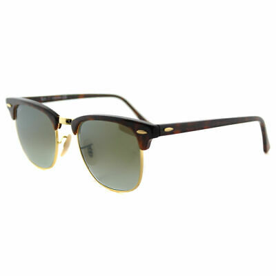 35a878519b Authentic Ray-Ban Clubmaster RB 3016 990 9J Red Havana Sunglasses Grn Flash  Lens
