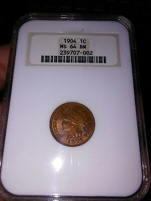 1904 1C BN Indian Cent MS64 BN