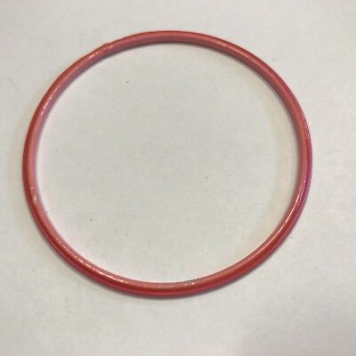 Stunning Vintage Estate Find Bright Coral Pink Thin Bangle Bracelet A6