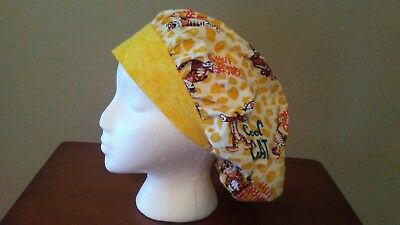 Tony the Tiger Women's Bouffant Surgical Scrub Hat/ Cap Handmade