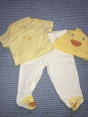 Carters- Gender Neutral Yellow Outfit Set 3 Months New w/o Tags