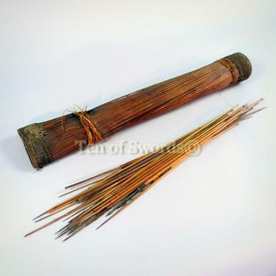 Antique African Arrows and Quiver Congo Spear Lance