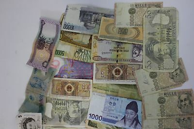 39 Bills Mixed Foreign World Paper Currency Bank Notes Circulated Money Lot