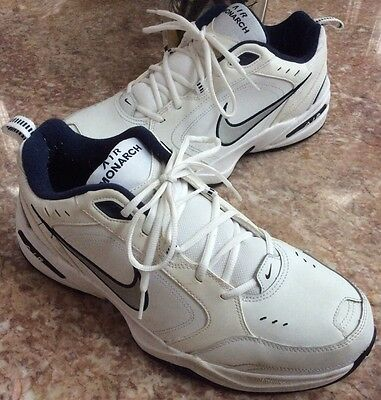 Nike Air Monarch IV Men's White/Navy Cross-Trainers Shoes Size 13, 415445