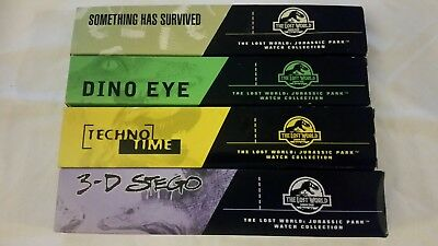 The Lost World: Jurassic Park - 4 Burger King Watches - new in box never worn