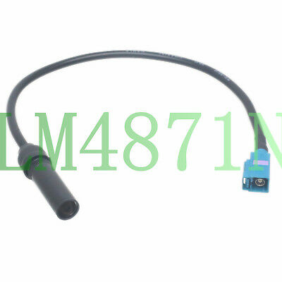 Car Stereo Fakra Z Jack to DIN radio Female Antenna Adapter RG58 1FT Cable VW