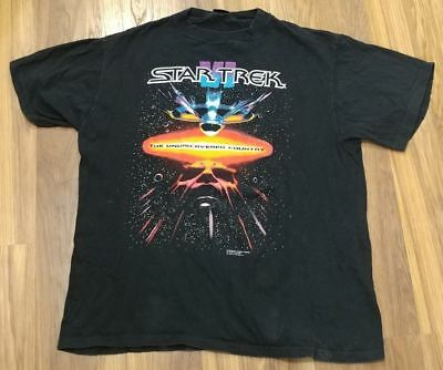 VINTAGE Star Trek VI The Undiscovered Country Movie Promo T-Shirt Size XL 90