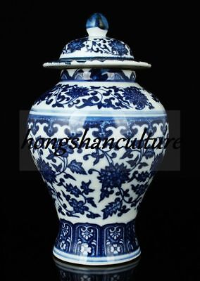 China Collectible Blue And White Porcelain Handmade Delicate Jar