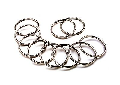 10pcs STAINLESS STEEL 316  ROUND O RING MARINE DECK SHADE SAIL - 4mm x 35mm
