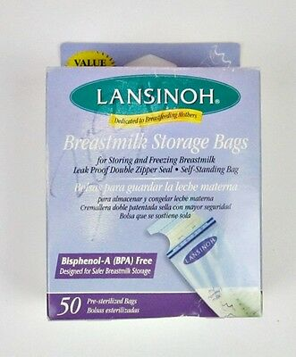 Lansinoh Breastmilk Storage Bags  50 Pre-Sterilized Bags