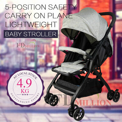 Compact Lightweight Baby Stroller Pram Easy Fold Travel Carry on Plane in Stock