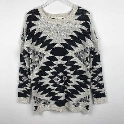 NWT Urban Day Geometric Tribal Knit Sweater M L Oversized Dolman Cozy Fuzzy New