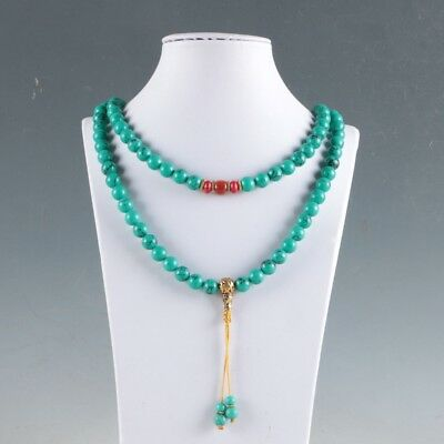 100% turquoise&Red Coral & Brass Handwork Decoration Necklaces   LXL012