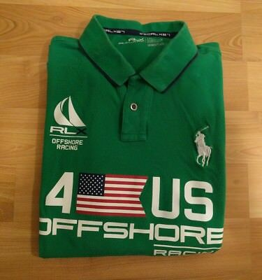 Ralph Lauren offshore racing polo shirt XL RLX Sport Green USA