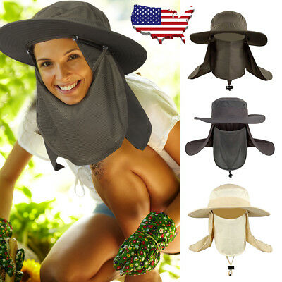 Boonie Snap Hat Brim Ear Neck Cover Sun Flap Cap Hunting Fishing Hiking Bucket