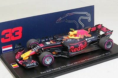 Spark F1 Red Bull Racing RB13 Max Verstappen 1/43 Spa Francorchamps GP 2017