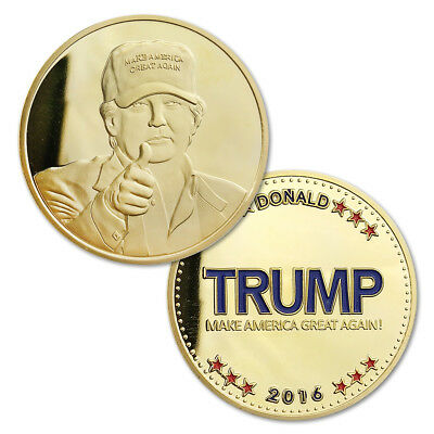 Make America Great Again 2016 Donald Trump Gold Plated Challenge Coin