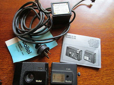 Rollei A26 C26 Vintage Retro  Instruction Booklet Camera,flash & Charger